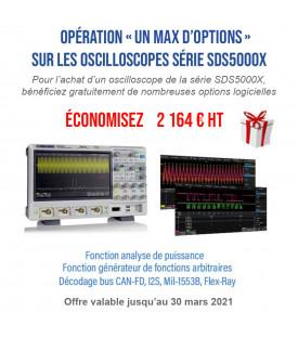 SDS5034X-Oscilloscope 4 voies 350 MHz avec écran tactile...
