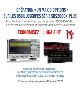 SDS2102X-Plus-Oscilloscope 2 voies 100 MHz avec écran tactile...