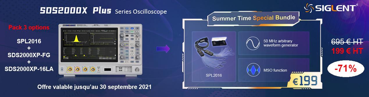 Pack 3 options en promotion pour oscilloscopes série Siglent SDS2000X-PLUS